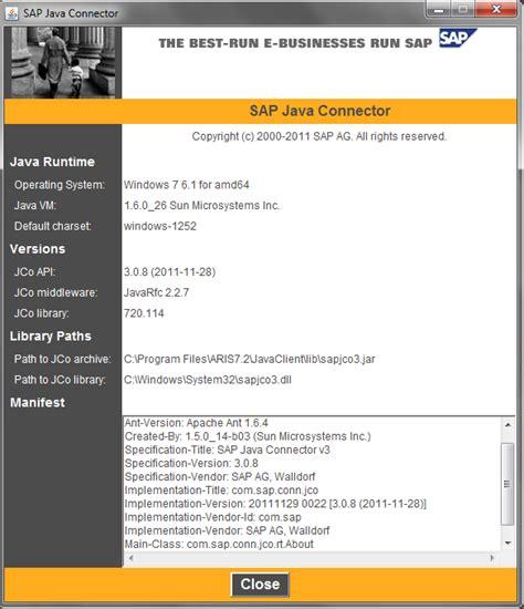 sap jco tutorial aris for sap jco faq aris bpm community