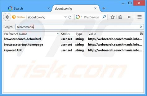 Change The Default Search Engine Of Firefox Address Bar How To Get Rid Of Websearch Searchmania Info Redirect