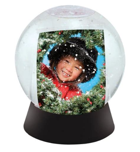 new photo snow globe for 2x3 inch photos ebay