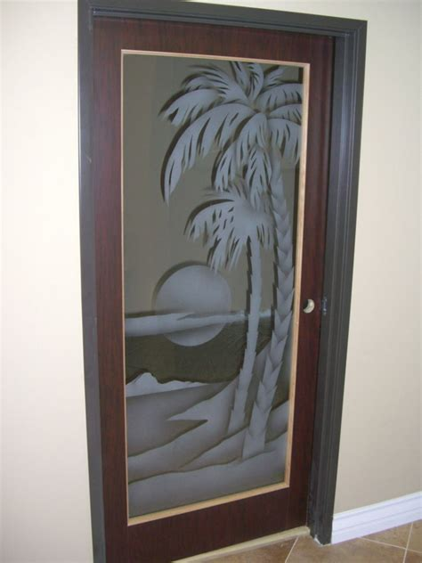 Decorative Interior Doors With Glass Etched Glass Panels Sans Soucie Glass