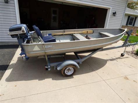 alumacraft 12 foot jon boat for sale 1956 alumacraft rb 12 foot boat with factory trailer for