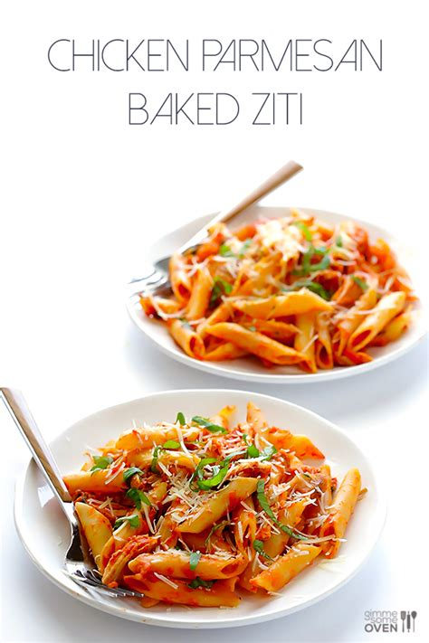 Simple Main Dish - chicken parmesan baked ziti gimme some oven