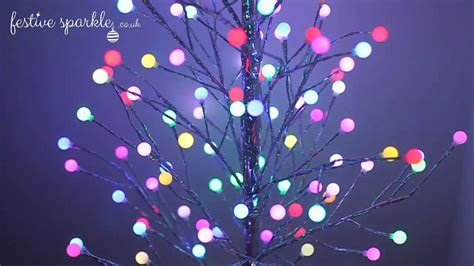5ft Twig Tree With Frosted Led Balls Youtube How To Make Lighted Balls