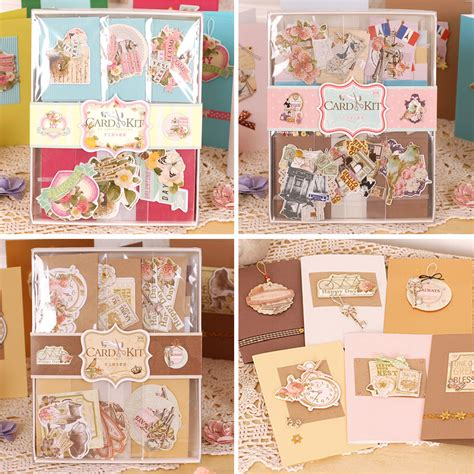 card kits for children 12 cards 12 envelopes diy vintage cards kit set creative