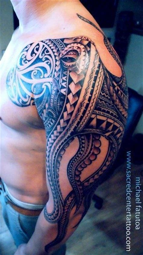 polynesian octopus tattoo designs hawaiian octopus tattoos polynesian maori tattoos
