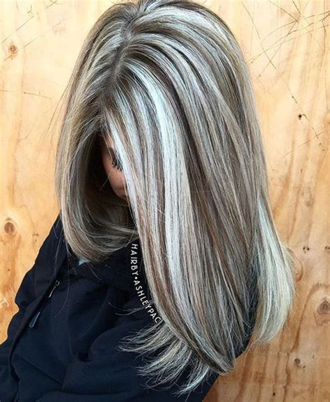 how to make a grey streck in my hair мелирование на светлые волосы разными способами фото идеи