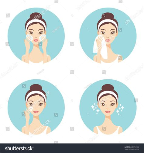 skin problems treatments washing stock vector royalty free 623665466 skin care cleanse washing stock vector 492703708