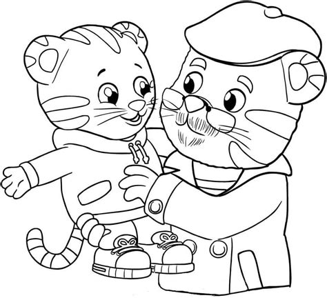 daniel tiger coloring pages 12 free printable daniel tiger s neighborhood coloring