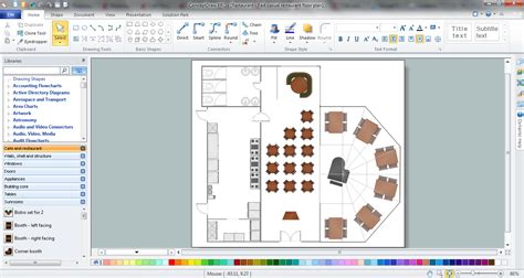 cafe design program restaurant layouts