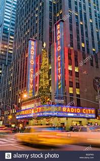 Radio City El New York New York City Radio City Music Hall On The Avenue Of The