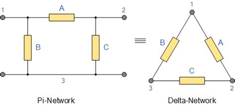 resistor pi network delta transformation and delta transformation