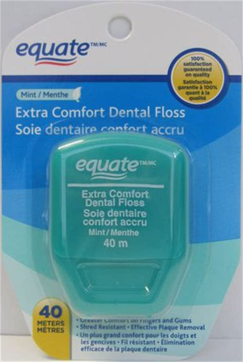 dental comfort equate extra comfort mint dental floss walmart ca