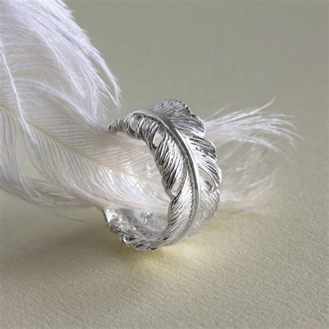 silver feather ring by martha jackson sterling silver