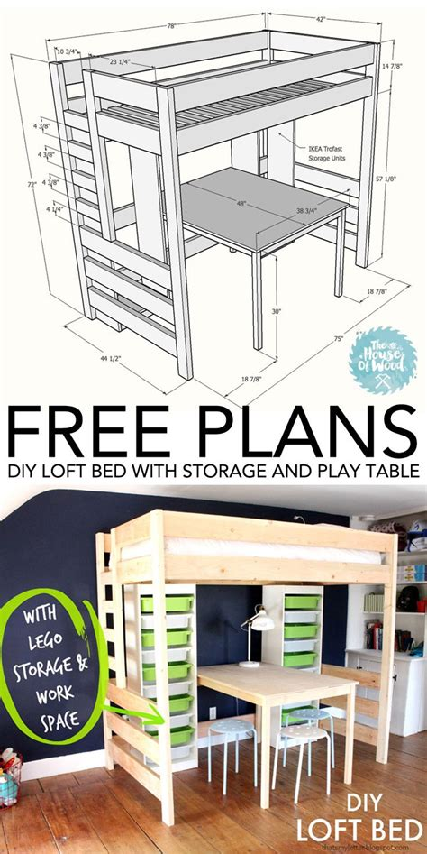 diy ikea loft bed diy loft bed with desk and storage tables tutorials and