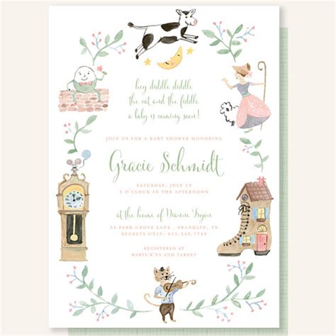 Nursery Rhymes Baby Shower by Goose Baby Shower Artisan Cake Company