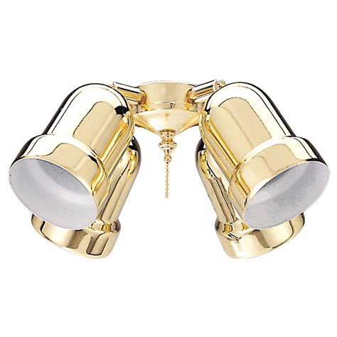 brass ceiling fan light kit shop harbor breeze 4light bright brass ceiling fan light