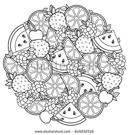 Water Doodle Shape Color Number vector coloring book for for meditation and relax