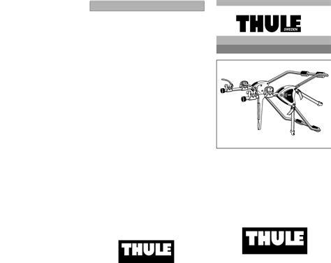Thule Rack Fit Guide by Thule Bike Rack 978 User Guide Manualsonline
