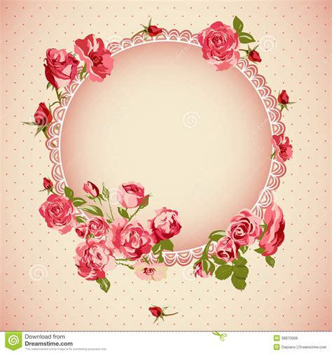 Vector Backgrounds With Roses For Invitations vintage floral lace background with roses stock vector image 38870006