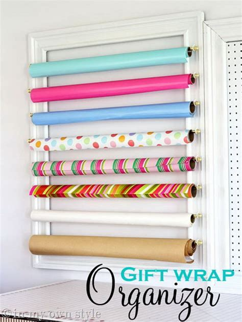 How To Make A Paper Organizer - creative wrapping paper storage ideas hative