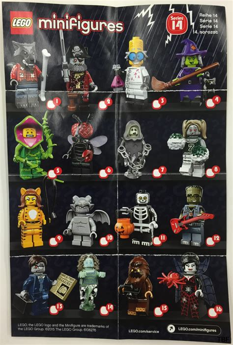 Lego Minifigures Fly 1 new series 14 minifigures details bricking around