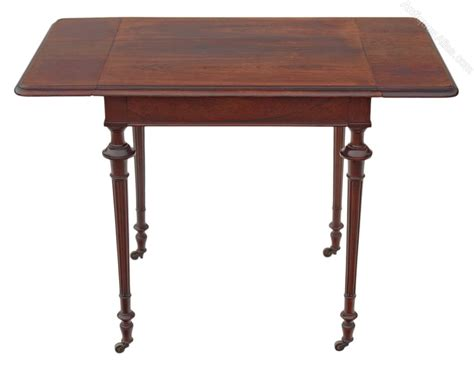 19c rosewood sofa table side occasional