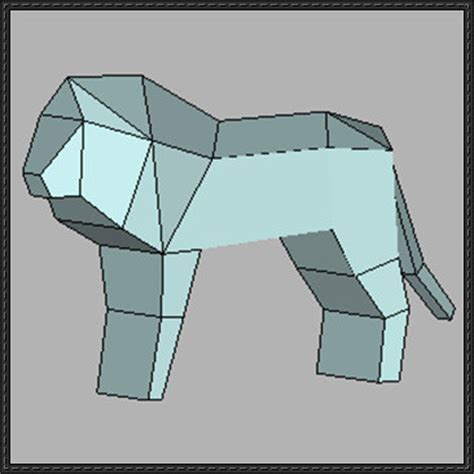 Simple Papercraft Templates - animal paper model simple free template