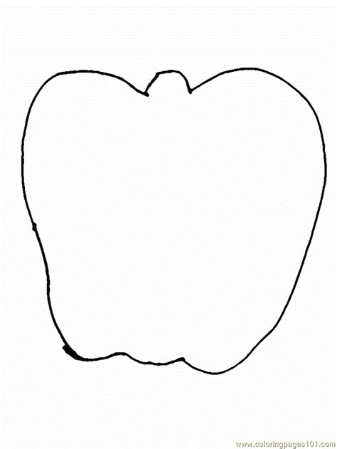 apple shape coloring page apple coloring page free simple shapes coloring pages