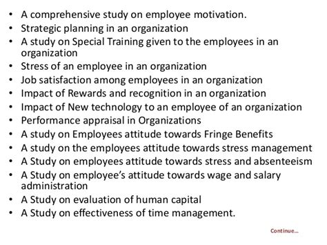 Mba Project Report On Ngo by Project Report Titles For Mba In Human Resources