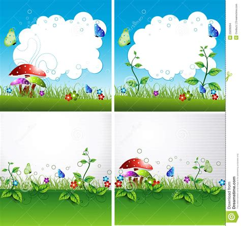 Cover Design Nature   nature flyer or cover vector design stock images image