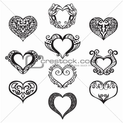 filigree heart tattoo designs filigree clipart 40