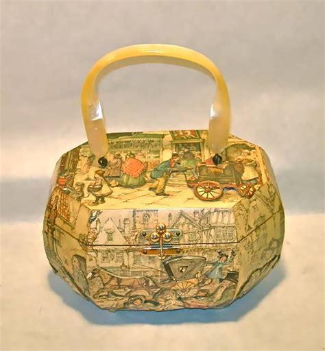 decoupage purse vintage anton pieck decoupage box purse nvision