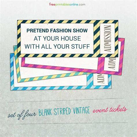 15 Free Event Ticket Mockups Psdtemplatesblog Fashion Show Schedule Template