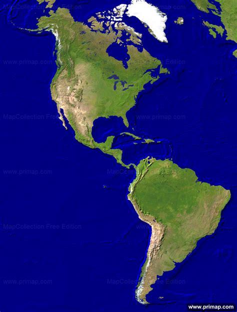 america map satellite primap continental maps