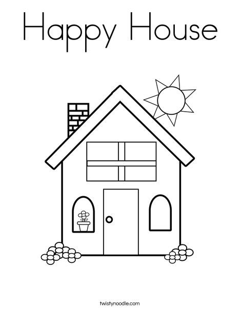 print this coloring page itll print full page happy house coloring page twisty noodle