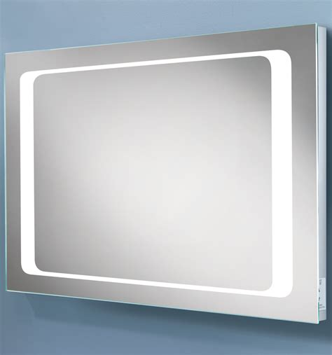 bathroom mirror with shaver socket hib axis led back lit mirror with shaver socket 77417000