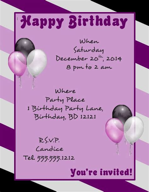 template birthday flyer download a microsoft word template for a happy birthday