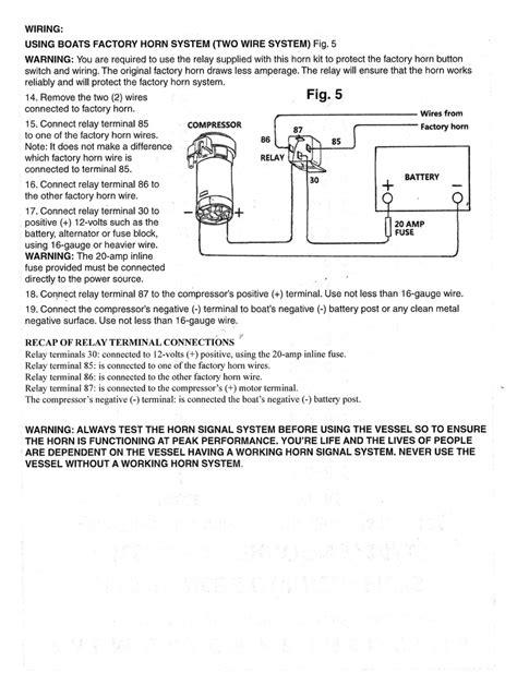 yacht air horn wiring diagram for horn circuit diagram