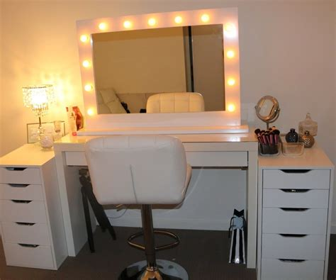 large makeup vanity particular large image together with lights also lighted