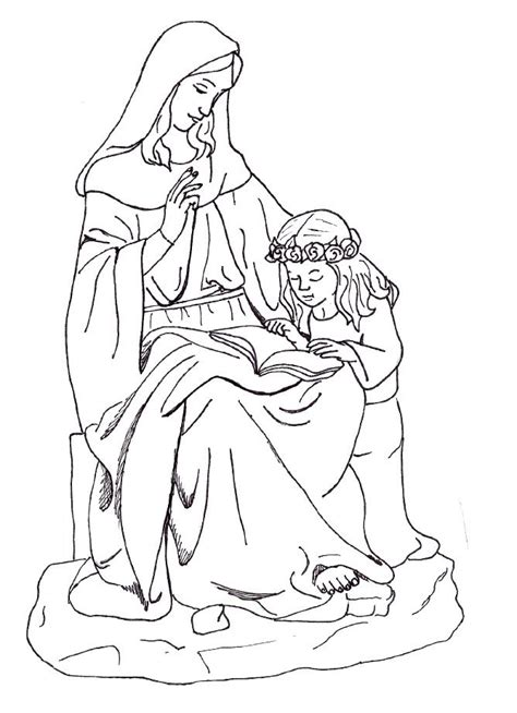 blessed mother coloring pages coloring pages