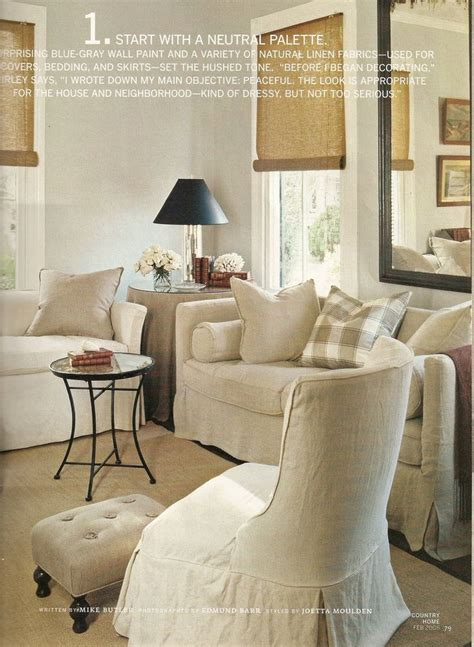 neutral palette living room country home feature 1 start with a neutral palette this living room so country