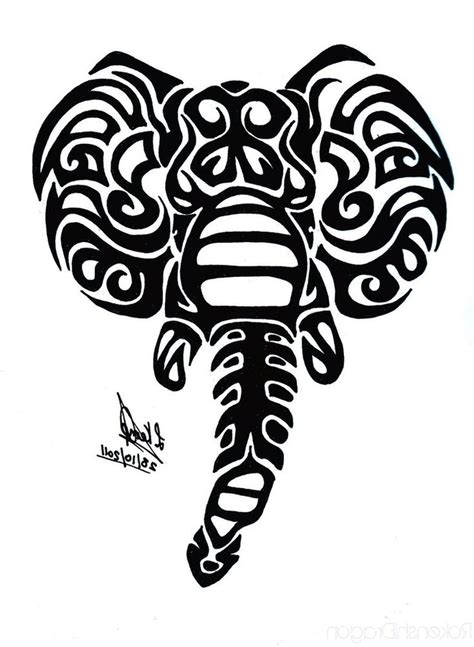 elephant tribal tattoo black tribal elephant design