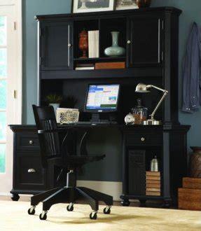 black finish contemporary desk whutch storage cabinets