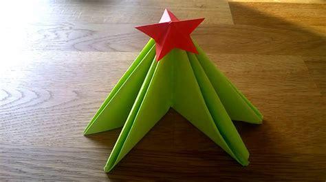 Tovagliolo Albero Di Natale by Come Piegare Il Tovagliolo Albero Di Natale Con Stella