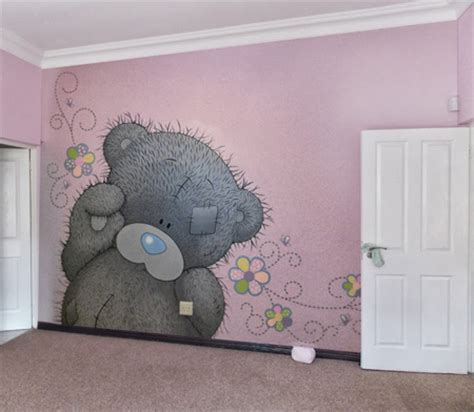 Little Girls Bedroom Paint Ideas home dzine how to paint a tatty teddy mural