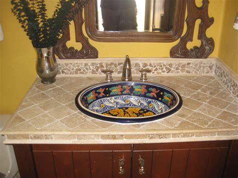 mexican hand painted sinks mexican talvera hand painted mexican with a tumbled