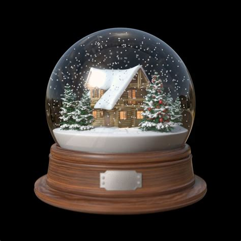 snow globe house 3d fbx