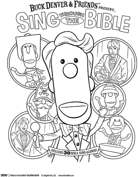 sing through the bible coloring page whats in the bible