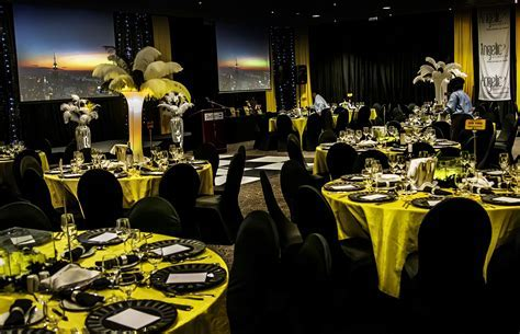 """ O What a night!"" An amazing gala dinner   Our yellow"