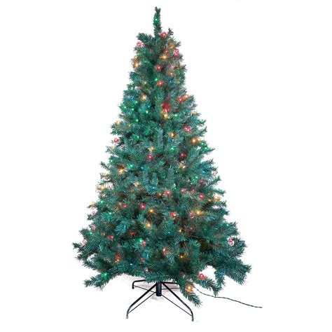 trim a home 174 7 multicolor pre lit cambridge pine tree